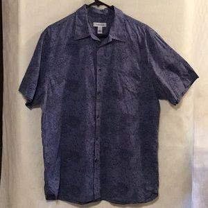 Calvin Klein Blue/Gray Button Up Shirt Size L